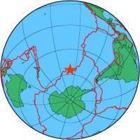 Землетрясение в Тихоокеанско-Антарктическом хребте 10 января 2016