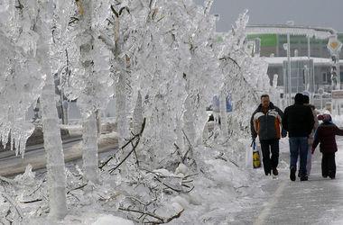 Обледенение улиц в Болгарии 07 января 2016