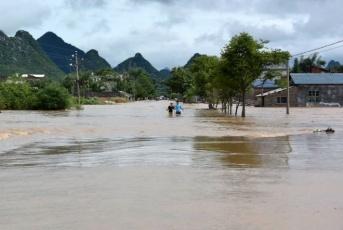 Наводнение в Китае 16 сентября 2015