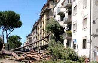 Шторм во Флоренции, Италия 01 августа 2015