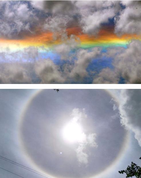 Огненная радуга и солнечное гало над Парагваем 13 марта 2016
