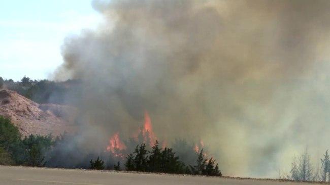 Пожары в США 06 апреля 2016