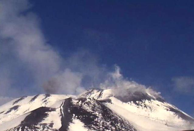 Извержение вулкана на Сицилии 25 ноября 2015