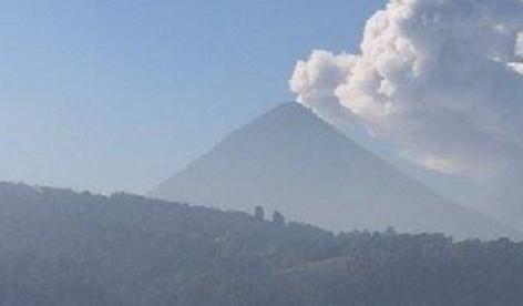 Извержение вулкана в Гватемале 08 марта 2016