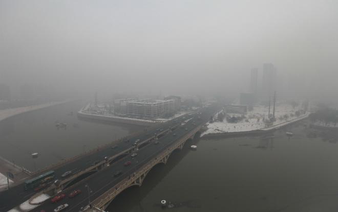 Смог в Китае 09 ноября 2015