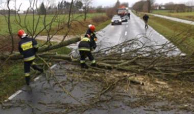Буря в Польше 18 ноября 2015
