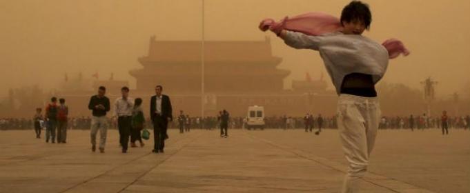 Песчаная буря в Китае 04 марта 2016