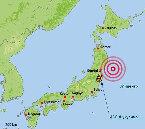 Япония. 13‒15 мая 2015 года. Серия землетрясений в районе Японских островов