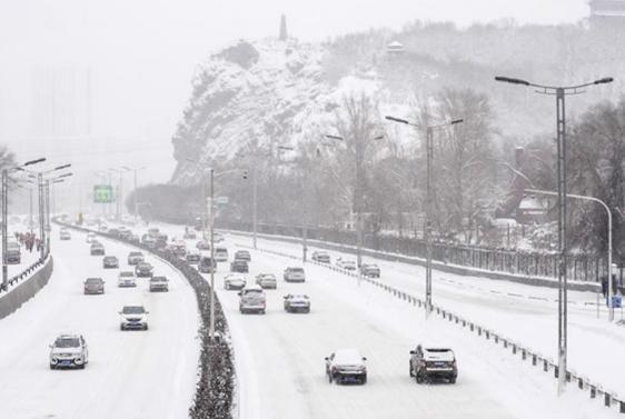 Снегопад в Китае 10 декабря 2015