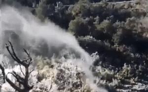 Водопад повернулся вспять в Испании 05 марта 2016