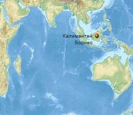 Землетрясение на острове Борнео 20 декабря 2015