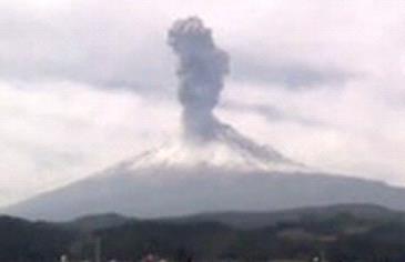 Извержение вулканов в Мексике 23 января 2016