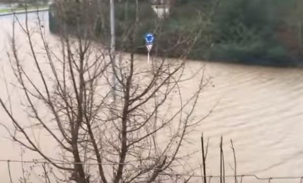 Наводнение в Португалии 12 января 2016