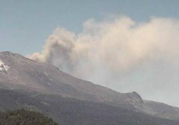 Извержение вулкана в Чили 13 января 2016