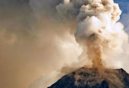 Извержение вулкана на Камчатке 24 января 2016