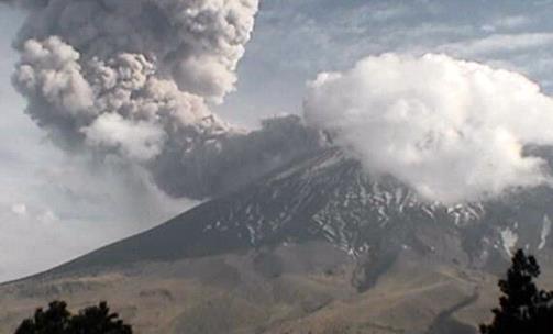Извержение вулкана в Мексике 03 апреля 2016