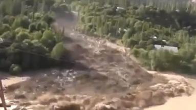 Селевые потоки в Таджикистане 21 июля 2015