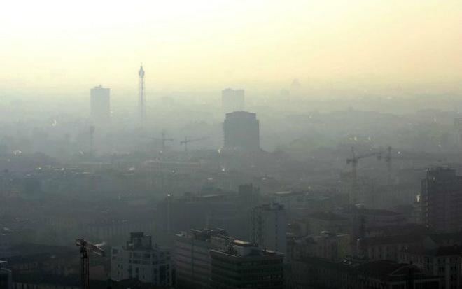 Загрязнение воздуха в Италии 16 декабря 2015