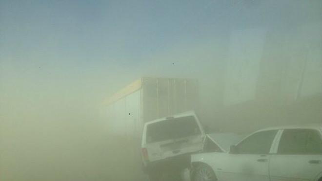 Пыльная буря в США 28 марта 2016