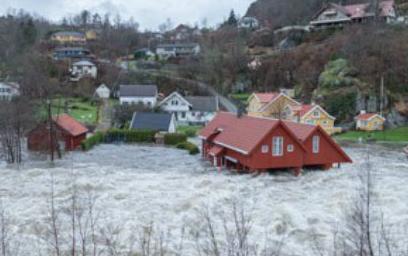 Наводнения в Норвегии 05 декабря 2015