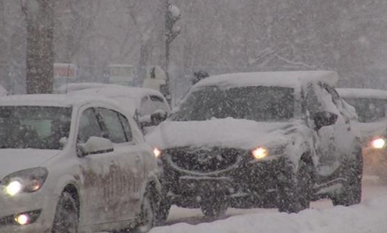 Снегопады в Белоруссии 02 марта 2016