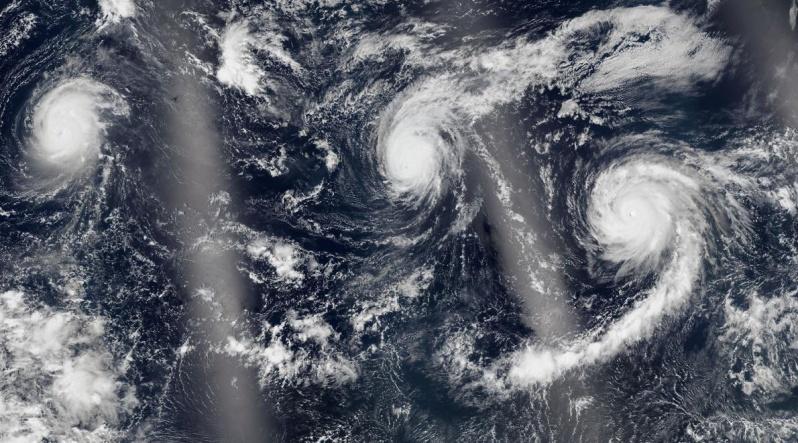 Циклоны в Тихом океане 02 сентября 2015