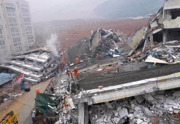 Оползень в Китае 20 декабря 2015