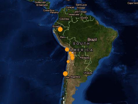 Землетрясения в Южной Америке, 2 июня 2015