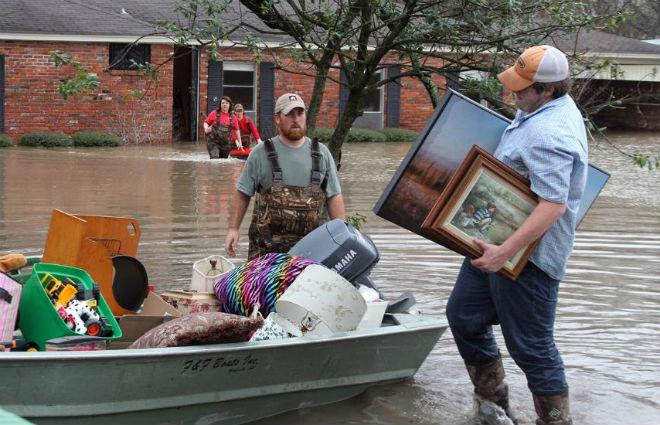 Наводнение в США 13 марта 2016