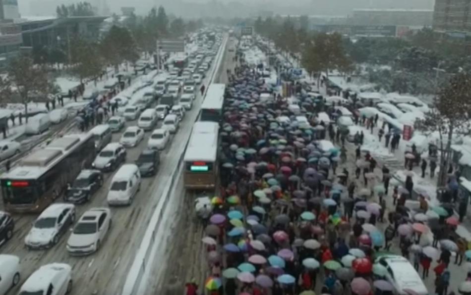 Снегопад в Китае 24 ноября 2015
