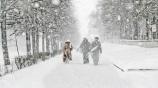 Снегопад в Белоруссии 16 января 2016