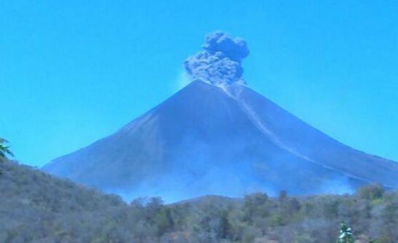 Извержение вулкана в Никарагуа 02 марта 2016