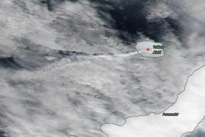 Извержение на острове Алаид 22 марта 2016