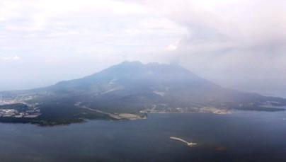 Вулкан Сакурадзима в Японии снова напоминает о себе 17 августа 2015
