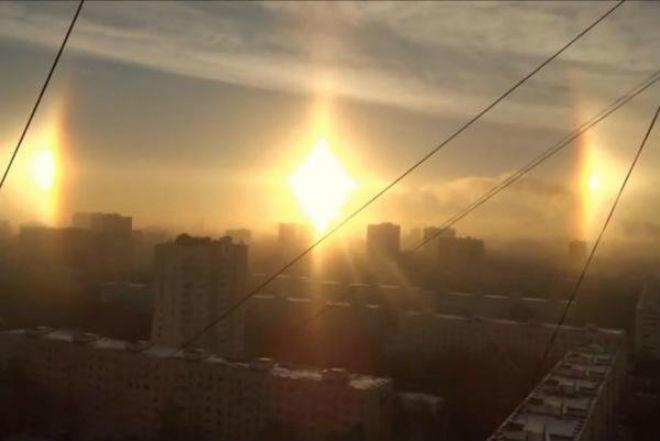 Гало над Россией 19 марта 2016