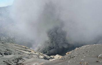 Извержение вулкана Асо в Японии 08 августа 2015