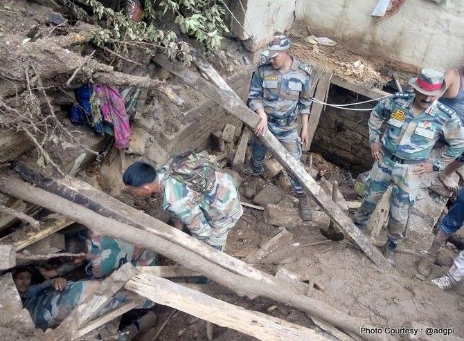 Наводнения, сели и оползни в Индии
