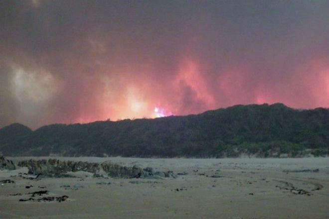 Пожары в Тасмании 21 января 2016