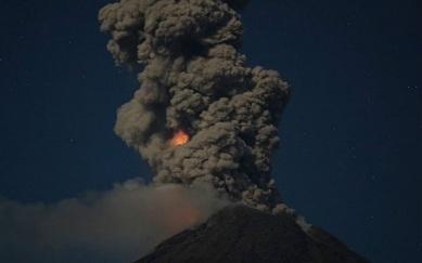 Извержение вулкана в Мексике 04 ноября 2015