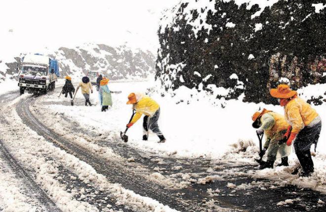 Снег в Боливии и Перу 14 августа 2015