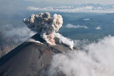 Извержение вулкана на Камчатке 30 ноября 2015