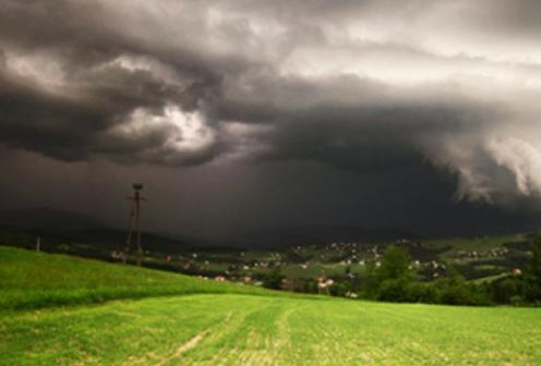 Шторм в Польше 12 августа 2015