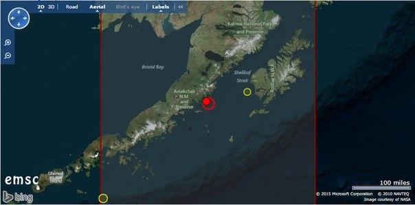 Катаклизмы на Аляске. Рекордная жара и сильное землетрясение у южного побережья Аляски