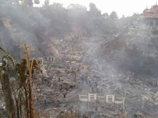 Пожары в Мьянма 04 января 2016