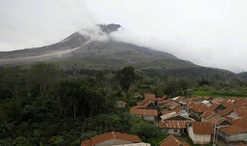 Извержение вулкана на острове Суматра 17 декабря 2015