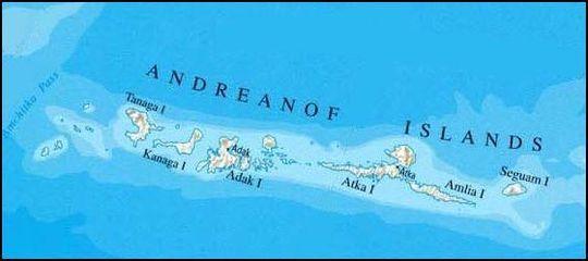 Землетрясение на Андреяновских островах 10 июня 2015
