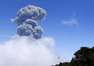 Извержение вулкана в Коста-Рике 01 ноября 2015