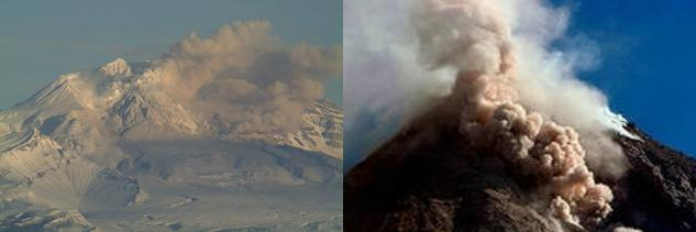 Извержение вулканов на Камчатке 11 декабря 2015