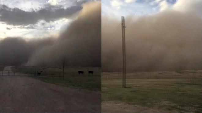 Пыльная буря в США 05 апреля 2016
