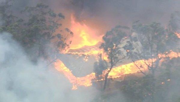 Пожары в Австралии 19 декабря 2015